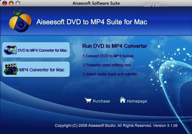 Aiseesoft DVD to MP4 Suite for Mac Screenshot 3