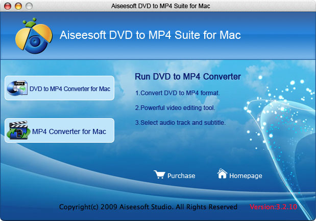 Aiseesoft DVD to MP4 Suite for Mac Screenshot