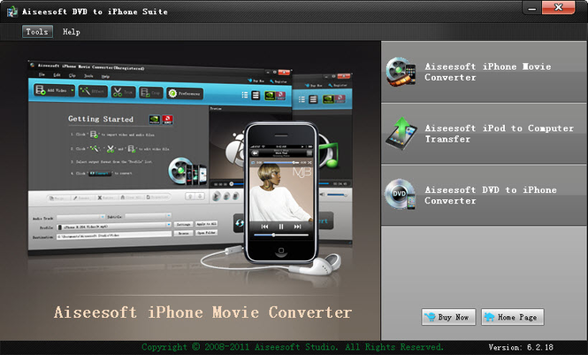 Aiseesoft DVD to iPhone Suite Screenshot
