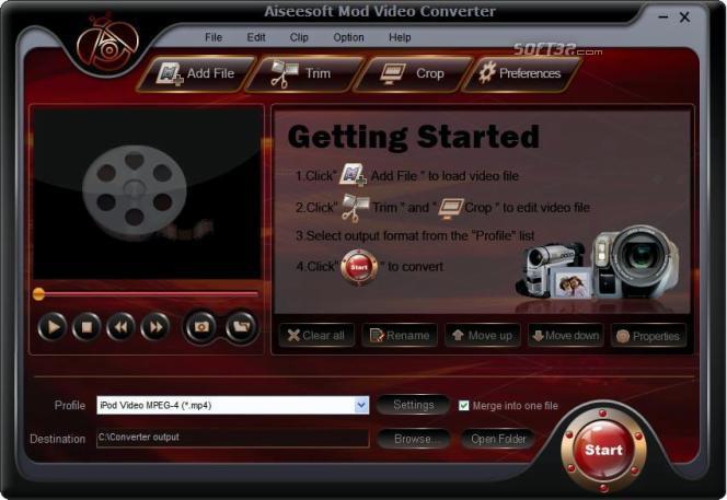 Aiseesoft Mod Video Converter Screenshot 4
