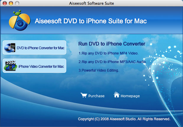 Aiseesoft DVD to iPhone Suite for Mac Screenshot 2