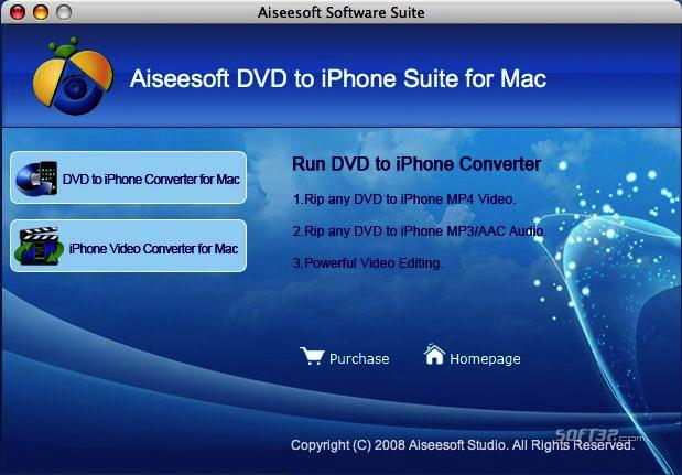 Aiseesoft DVD to iPhone Suite for Mac Screenshot 4