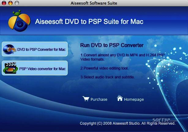 Aiseesoft DVD to PSP Suite for Mac Screenshot 3