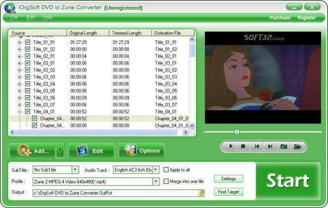 iOrgSoft DVD to Zune Converter Screenshot 3