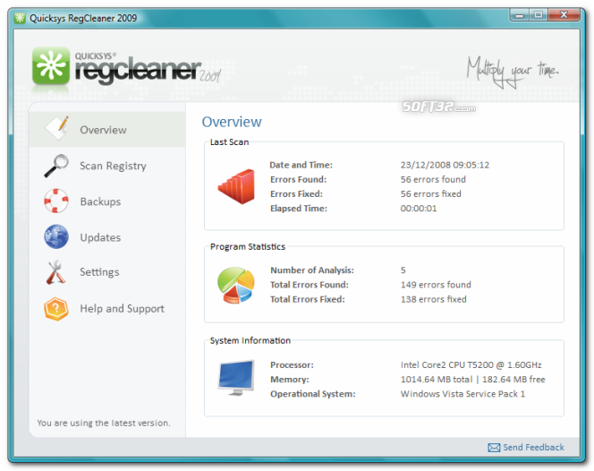 Quicksys RegCleaner Screenshot