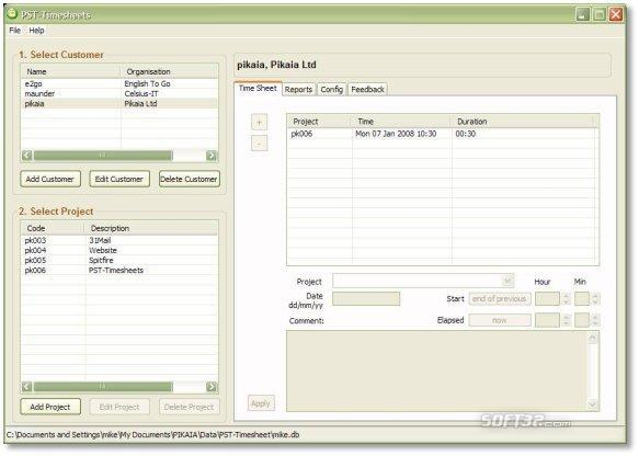 PST-Timesheet Screenshot 2