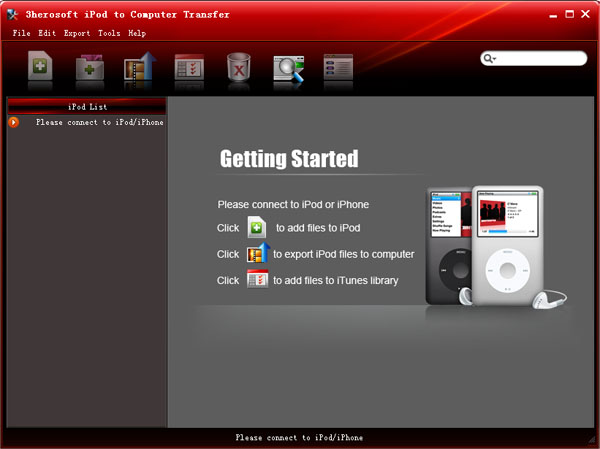 3herosoft iPod to Computer Transfer Screenshot 1