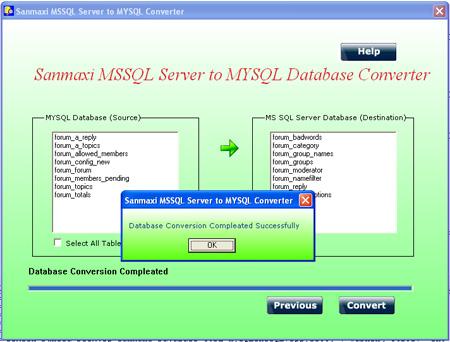 Convert MSSQL to MySQL DB Screenshot