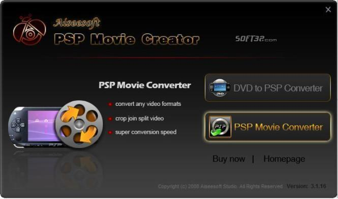 Aiseesoft PSP Movie Creator Screenshot 3