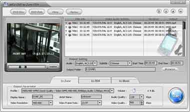 Alldj DVD To Zune PDA Ripper Screenshot 1