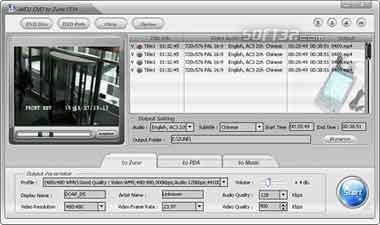 Alldj DVD To Zune PDA Ripper Screenshot 2