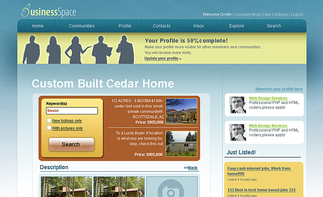 BusinessSpace Screenshot