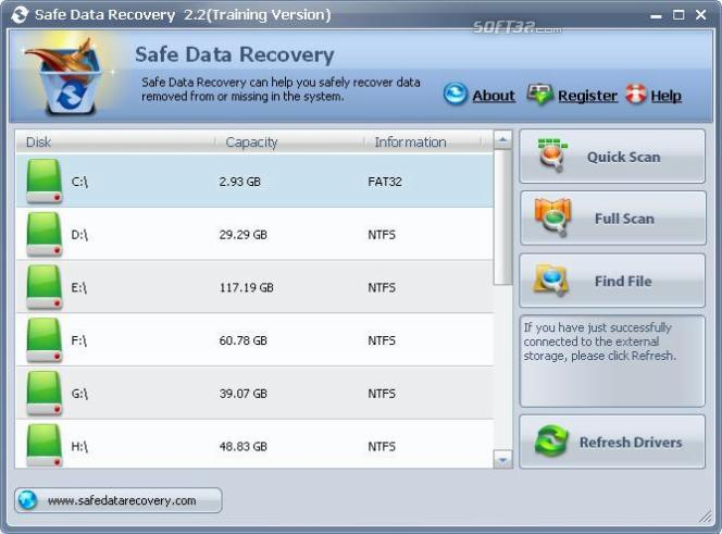 Safe Data Recovery Screenshot