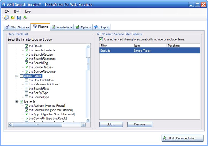 Adivo TechWriter for Web Services Screenshot