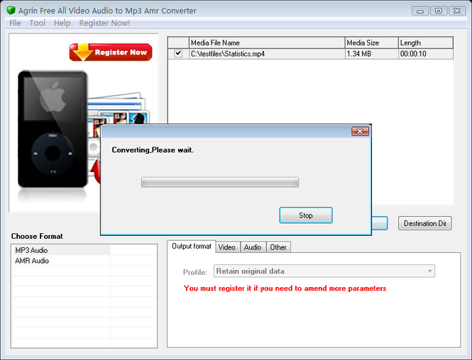 Agrin Free All Video Audio to Mp3 Screenshot 1