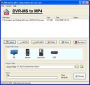 DVR-MS to MP4 Converter Screenshot