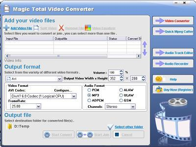 Magic Total Video Converter Screenshot 1