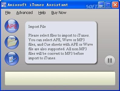 Aniosoft iTunes Assistant Screenshot