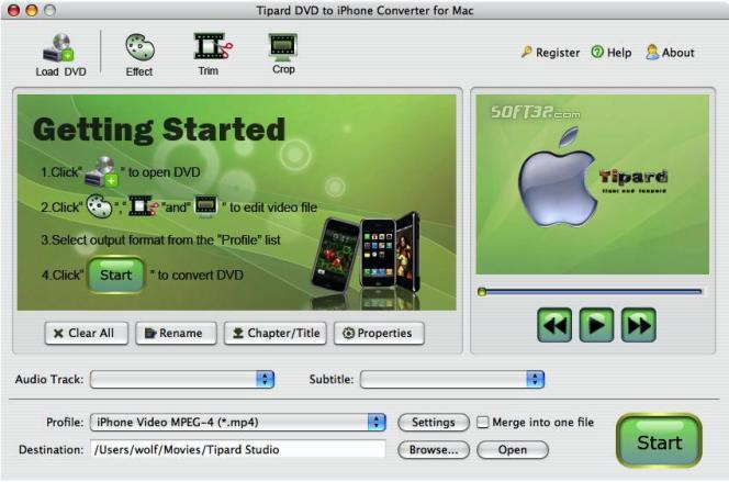 Tipard DVD to iPhone Converter for Mac Screenshot 4