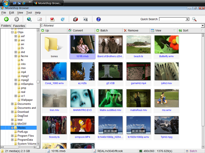 MovieShop Browser Screenshot 1