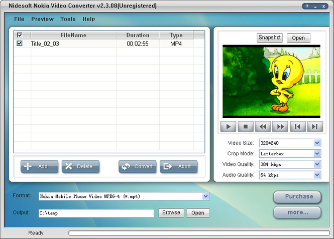 Nidesoft Nokia Video Converter Screenshot