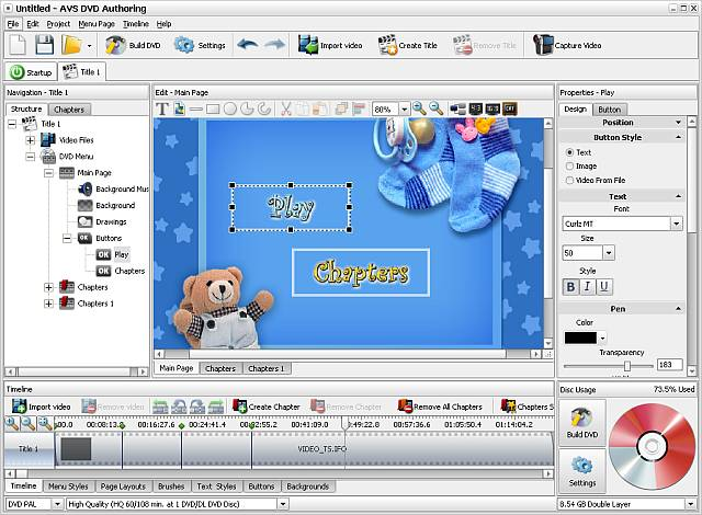 AVS DVD Authoring Screenshot