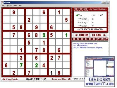 Tams11 Sudoku Screenshot