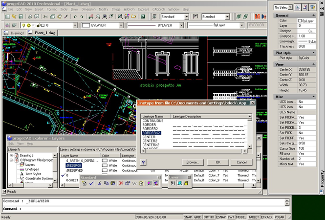 progeCAD Professional 2009 DWG CAD Screenshot 3