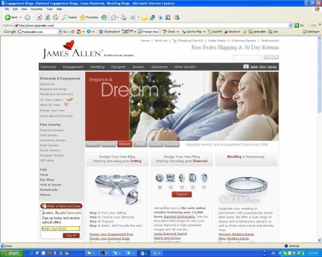 James Allen Diamonds Screenshot 2