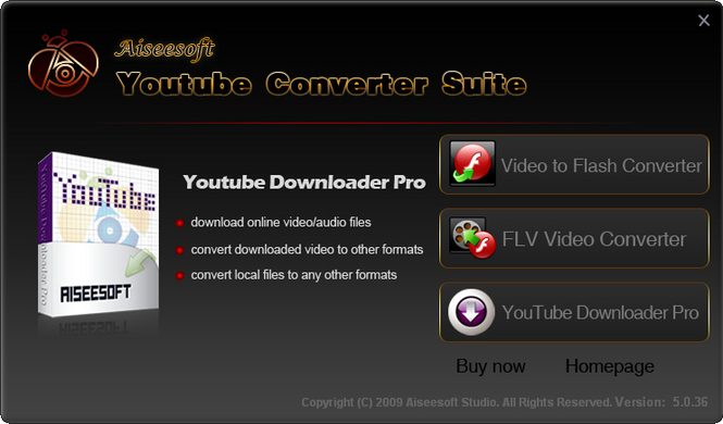 Aiseesoft Youtube Converter Suite Screenshot