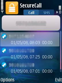 Secure call and SMS Screenshot 1