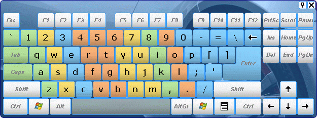 Comfort On-Screen Keyboard Lite Screenshot