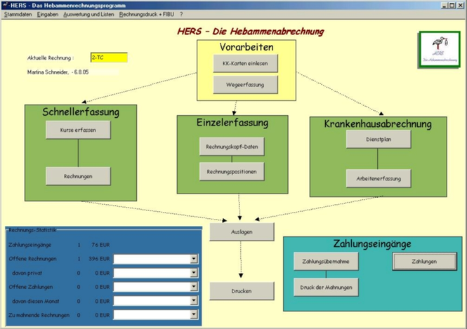 HERS-Hebammenabrechnung Screenshot 1