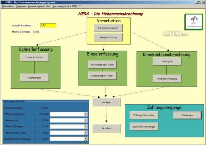 HERS-Hebammenabrechnung Screenshot 2