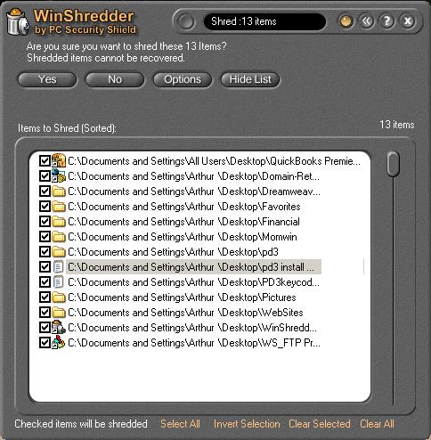 WinShredder Screenshot