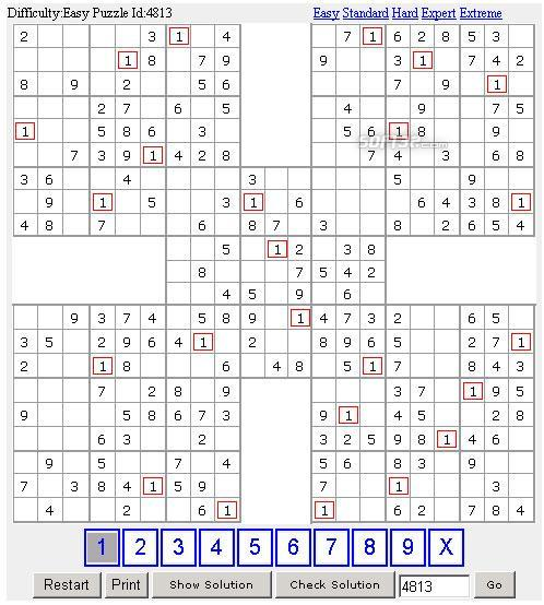 100 Samurai Sudoku Screenshot 2