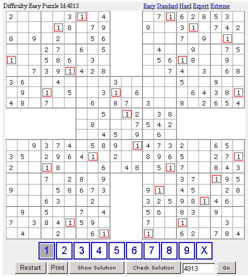 100 Samurai Sudoku Screenshot 1