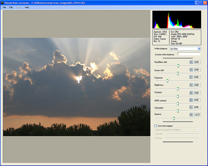 XDepth Raw Converter Screenshot