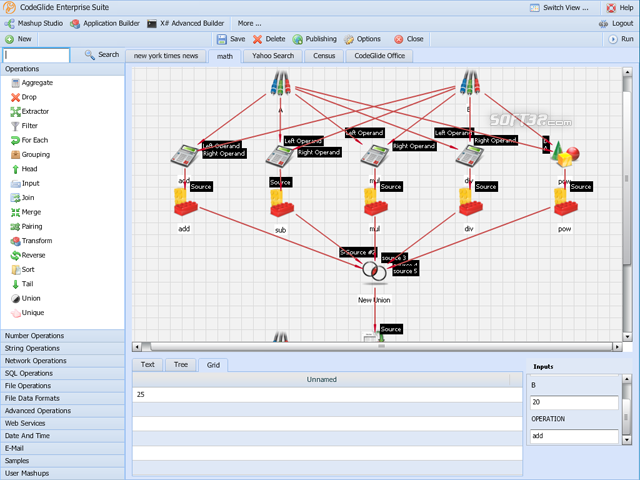 Fusion Enterprise Mashup Server Screenshot