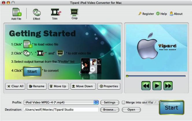 Tipard iPod Video Converter for Mac Screenshot 3