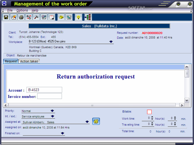 FastRequest HelpDesk Screenshot