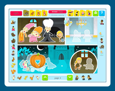 Sticker Activity Pages 4: Fairy Tales Screenshot 1