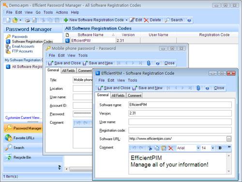 Efficient Password Manager Screenshot 1