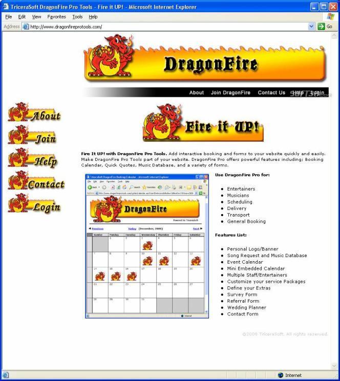 DragonFire Pro Management Tools Screenshot