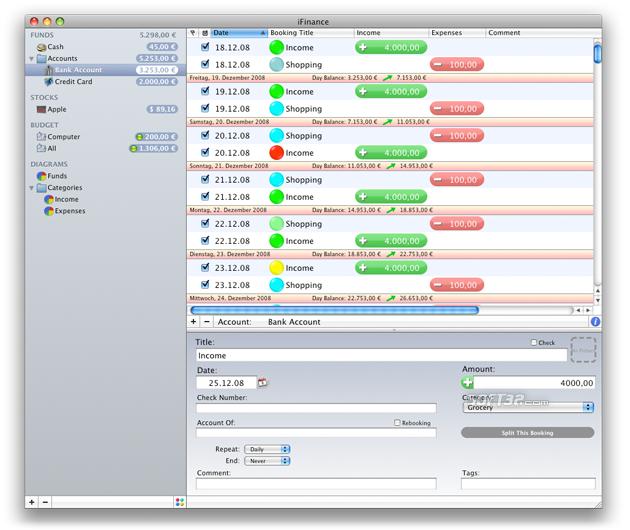 iFinance Screenshot