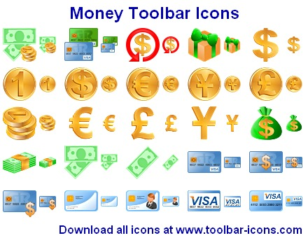 Money Toolbar Icons Screenshot 1