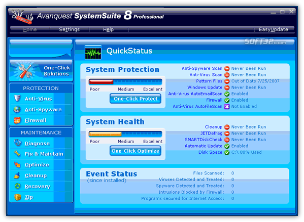 Avanquest SystemSuite Screenshot