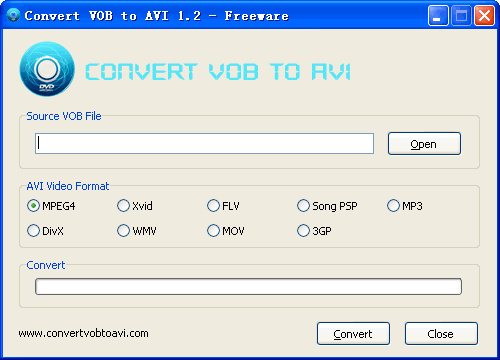 Convert VOB to AVI Screenshot 1