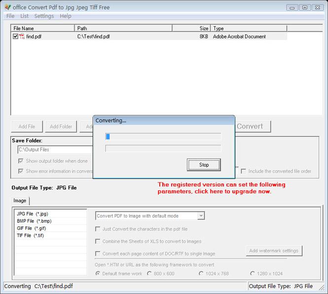 office Convert Pdf to Jpg Jpeg Tiff Free Screenshot 1