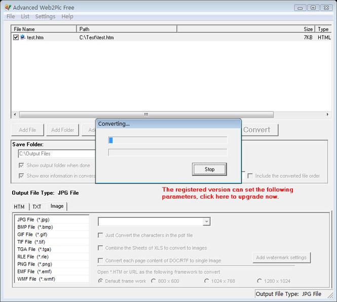Advanced Web2Pic Free Screenshot 1
